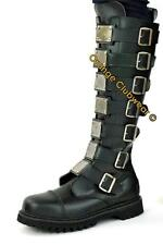 DEMONIA REAPER-30 Punk Gothic Leather Womens Knee Boots