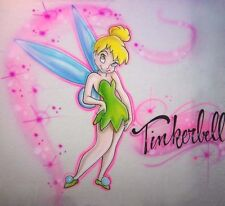 Airbrush Tinkerbell Personalized Airbrushed T shirt