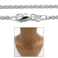 Sterling Silver DIA CUT ROPE chain necklace 1.5mm 030