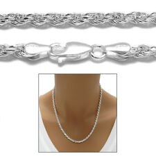 Sterling Silver DIA CUT ROPE chain necklace 3.5mm 070