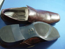 "NIB OTTO "" LOAFERS"" ITALIAN STYLE DRESS SHOES BROWN"