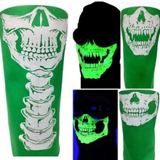 American Made GREEN Skull BIKER COSPLAY FaCe MASK BUG WIND DUST SHIELD Bandana