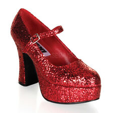 Womens Halloween Costume Dorothy Glitter Heels Shoes