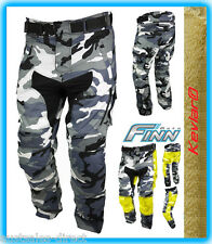 Mens Urban Camouflage CORDURA KEVLAR MOTORCYCLE PANTS waterproof liner 3032 long