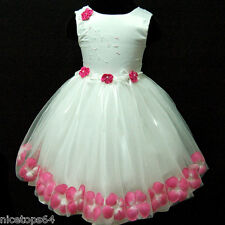 Pinks White First Communion Wedding Bridesmaid Flower Girls Dresses SIZE  1 to 5