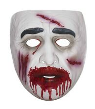 Zombie Mask Transparent Undead Horror Adult Costume Accessory Plastic NEW