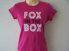*NEW* FOX IN THE BOX SKY SOCCER AM OFFICIAL SOCERETTE T SHIRT PINK SIZE SMALL