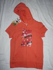 ROXY EVENING SUN SHORT SLEEVED ZIP UP HOODED TOP BNWT XS, SMALL, MEDIUM, X LARGE
