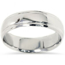 Men Solid 950 Palladium Comfort Fit High Polished 6 MM Wedding Ring Band SZ 7-12