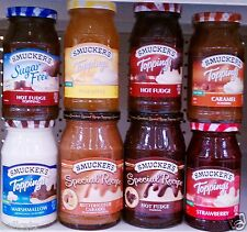 Smucker's Cake Cookie Ice Cream Dessert Toppings Sauce Magic Shell ~ Pick One
