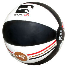 Sporteq Pro Leather Fitness Exercise Medicine Ball