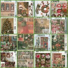 McCalls Christmas Holiday Decoration Sewing Pattern Ornaments Wreaths Table XMAS