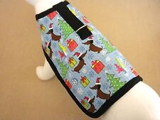 Fleece Lined Holiday Christmas Dog Harness Coat Clothes