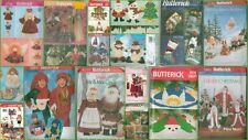 OOP Butterick Christmas Holiday Decoration XMAS Sewing Pattern