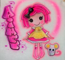 Airbrushed Lalaloopsy Crumbs Sugar Cookie Doll T-Shirt Airbrush Any Name