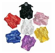 Baby boy girl unisex Sequin Vest for Dance Party Show Costume Idv