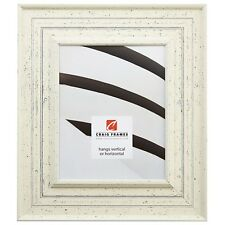 "Craig Frames Traditional, 3"" Weathered Off-White Wood Picture Frame"