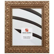 """Picture Frame Ornate Scratched Bronze 2.03"""" Wide Complete New Frame (21247906)"""