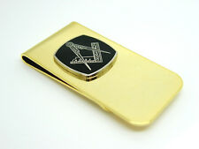 MASONIC BADGE SQUARE AND COMPASS MONEY CLIP FREE GIFT POUCH OPTIONS CRAFT