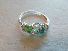 MOTHER RING~MOMMY~NANA~GRANDMA~GRANDMOTHER~BIRTHSTONES~PERMANATE SP WIRE~NEW