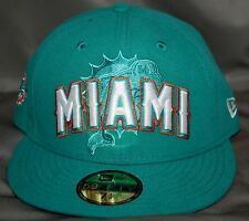 MIAMI DOLPHINS 2012 DRAFT 59FIFTY STRUCTURED FITTED HAT / CAP BY NEW ERA