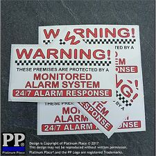Property Alarm System Monitored Warning Security Stickers-Home/Business Signs
