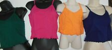 NWT DANCE TOPS Cotton Spandex CAMISOLE CHILD ADULT 7 COLORS LINED