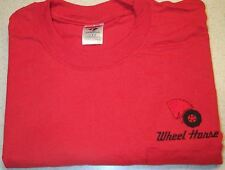 Mens Wheel Horse Embroidered T-shirt w/Pocket (5 colors)