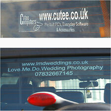 Advertise,Promote a Business,Service,Club - Vehicle Rear Window Sticker-Car,Van