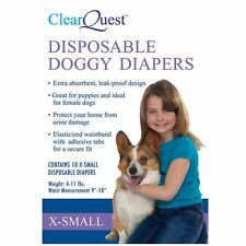 ClearQuest Pet Disposable Doggie Dog Diapers 5 SIZES!