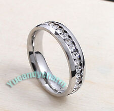 Korean Trend Full Round Gems Comfort Fit Ring Fine Stainless Steel Made in Korea