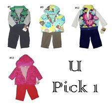 FLEECE PANTS BODYSUIT 3 PC CARTERS SET BABY GIRLS BOYS OUTFIT WINTER WARM KID