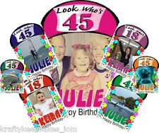 Personalised Happy Birthday Poster A4 A3 A2 A1 own large photo & text from £2.99