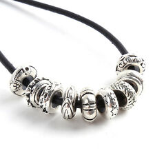 10/50x Wholesale Tibetan Silver Charms Rubber Alloy Spacer Beads Fit Bracelets L