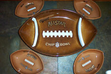 Football Super Bowl Chip Plastic Serving Platter OR Bowl YOUR CHOICE
