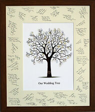 Guest Signing Signature Frame with Fingerprint Tree - Wedding Christening Gift