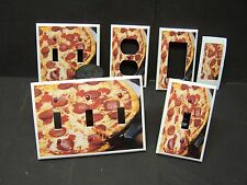 PEPPERONI PIZZA #1 LIGHT SWITCH COVER PLATE COVER OR OUTLET COVER MULTI SIZES