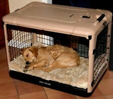 Pet Gear Tan 4 Door Folding Dog Cat Kennel Steel Crate Cage PG5927 PG5936 PG5942