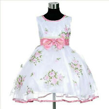 P573 Baby Girl Pinks X'mas Party Flower Girls Pageant Dress SZ  2-3-4-5-6-7-8-9T