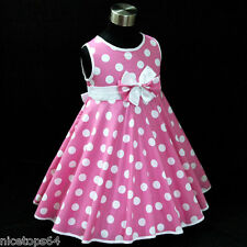 P3121 Toddler Baby Girl Pinks Christmas Party Girls Dress SZ 2,3,4,5,6,7,8,9,10T