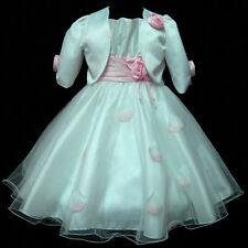 P05 Pinks Easter Wedding Girls Dress + Cardigan Set Outfit SIZE 2-3-4-5-6-7-8-9T