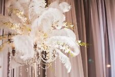 100 PCS White Ostrich Feathers For Wedding Eiffel Tower Vase U PICK SIZE *USA*