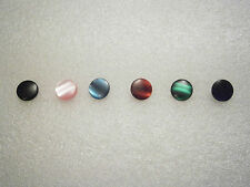 SETS OF 3 COLOURED INSERTS FOR BRASS FINGER BUTTONS 14MM DIAMETER