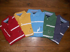 New Authentic NWT TOMMY HILFIGER LS Mens Polo Golf Shirt Stripe
