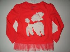 NWT BABY GAP 4T 5T/Years Holiday Wonderland Poodle T-shirt+Crazy Tulle Skirt