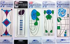 LARGE CHARLES RENNIE MACKINTOSH MIRROR DOOR WINDOW PANEL STICKERS GLASS DESIGN