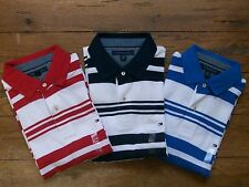New Authentic NWT TOMMY HILFIGER SS Mens Polo Golf Rugby Shirt Stripe