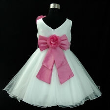 HP668 Pinks Wedding Party Flower Girls Pageant Dress Size 1,2,3,4,5,6,7,8,10,12Y