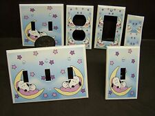 BABY SNOOPY MOON AND STARS  #2  LIGHT SWITCH COVER PLATE OR OUTLET