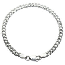 "Sterling Silver Double Link Charm Bracelet 4mm 060 gauge 6"" 7"" 8"""